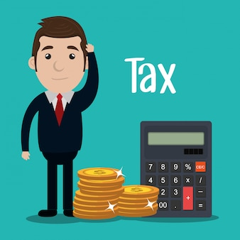Pay taxes graphic