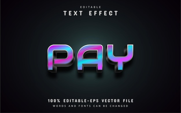 Pay text effects
