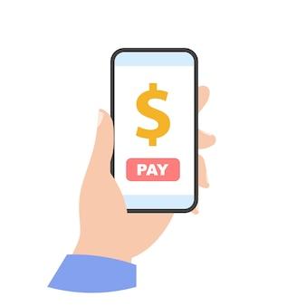 Оплатить через значок телефона