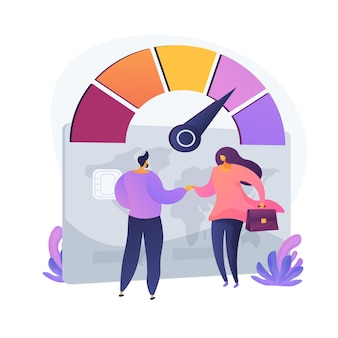 Paying ability. creditor and borrower shaking hands. deal gesture, trust level. bank operation, financial transaction, successful arrangement. vector isolated concept metaphor illustration