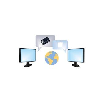 オンラインストアでの銀行カードによる支払いオンラインショッピング電子ショッピングセンターの概念