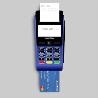 Payment by credit card using pos terminal