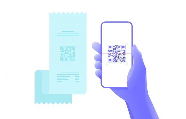 Payment by smartphone scan qr code. graphic design.