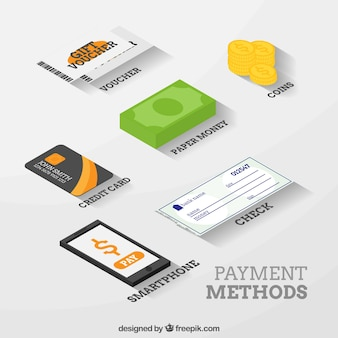 Payment elements with isometric style