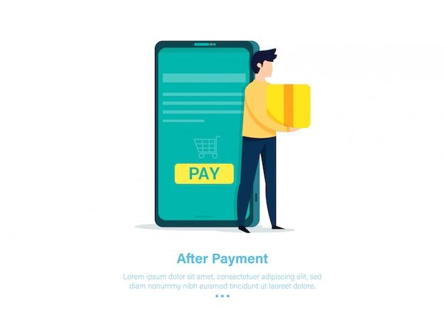 Дизайн иллюстрации платежа