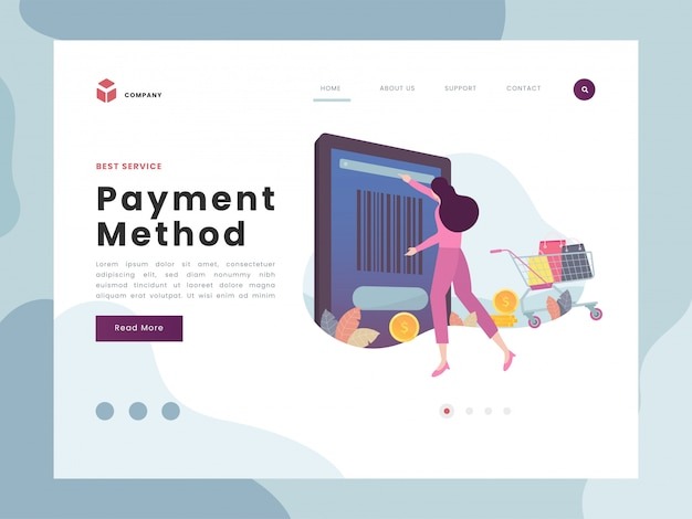 Payment landing page