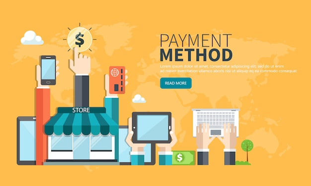 Payment method website banner