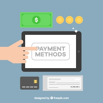 Sfondo di metodi di pagamento