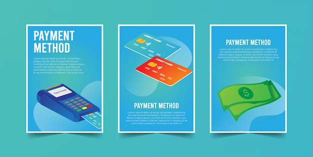 Payment methods on credit card & money