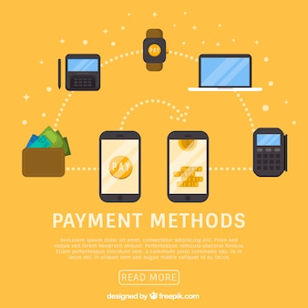 Payment methods with modern devices