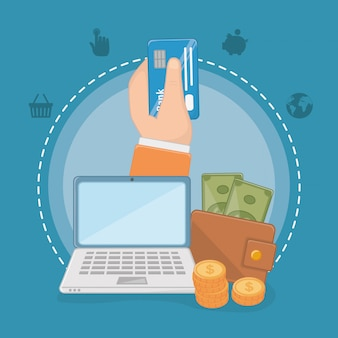 Payment online elements set design