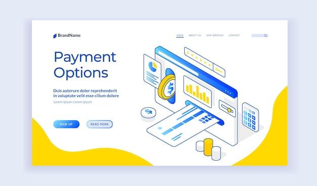 Payment options website