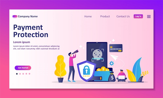 Payment protection landing page