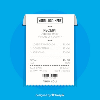 Payment receipt in flat style