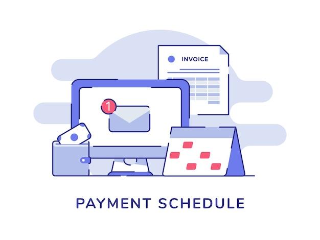 Уведомление о графике платежей по электронной почте на компьютере