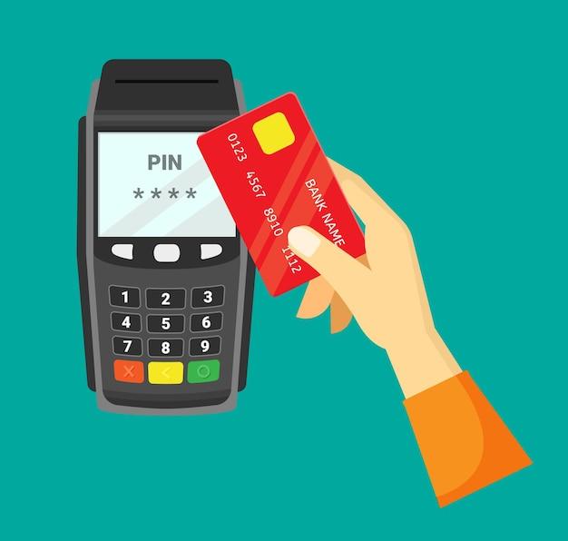 Payment via cash register
