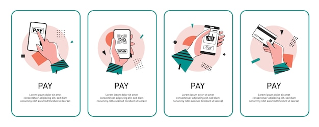 Payment with smartphone icon, online mobile payment,flat design icon  illustration