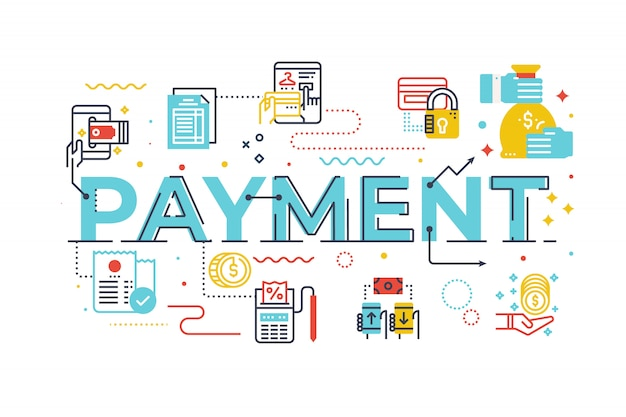 Payment word lettering illustration