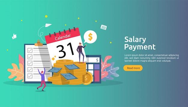 Payroll income concept. salary payment annual bonus.