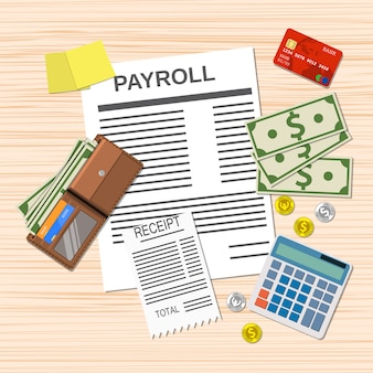 Payroll invoice sheet,