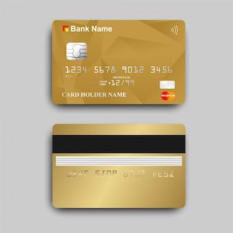Paywaveロゴ入りのゴールドatmカード