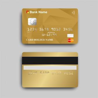 Золотая карта банкомата с логотипом paywave
