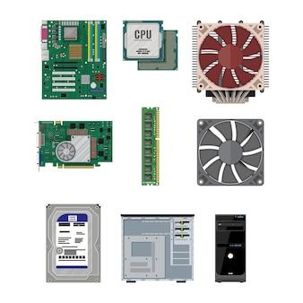 Pcを組み立てます。パソコンのハードウェア。