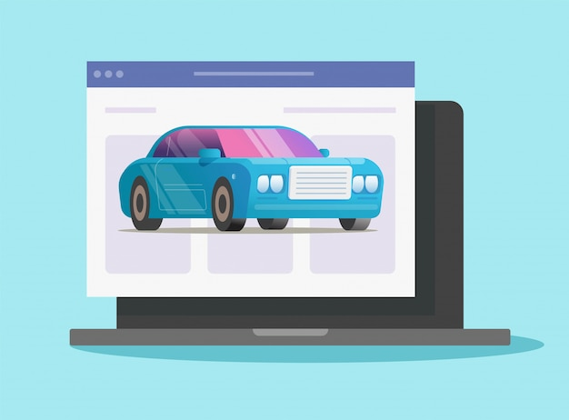 自動車のレンタカーまたはデジタル電子pcストアの購入