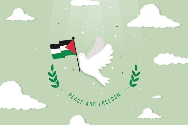 Иллюстрированный фон мира и свободы