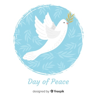 Peace day background with dove