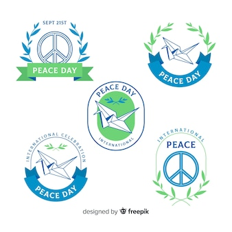 Peace day badge collection