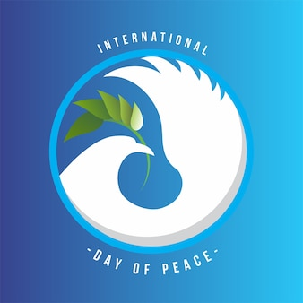 Peace day card symbol