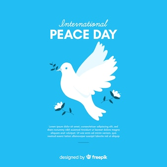 Peace day concept with a dover