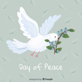 Peace day concept with hand drawn dove