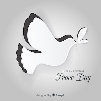 Peace day concept with paper dover