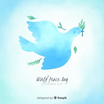Peace day concept wtih watercolor design