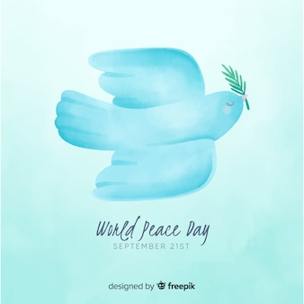 Peace day concept wtih watercolor design