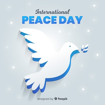 Peace day international with dove