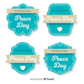 Peace day label collection