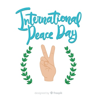 Peace day lettering