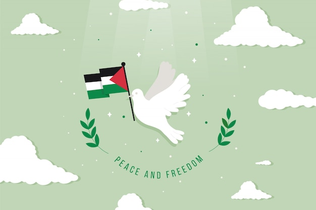 Peace and freedom background illustrated