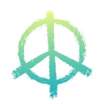 Знак мира, изолированные на белом, векторные иллюстрации