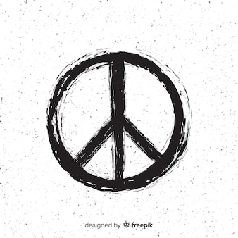 Peace sign with dots background