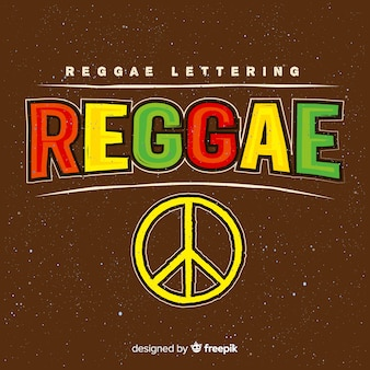 Peace symbol reggae background