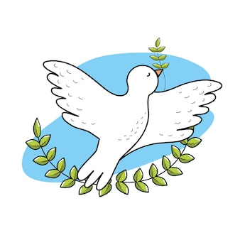 Peaceful dove to worldwide harmony element
