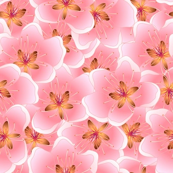 Peach blossom seamless texture background