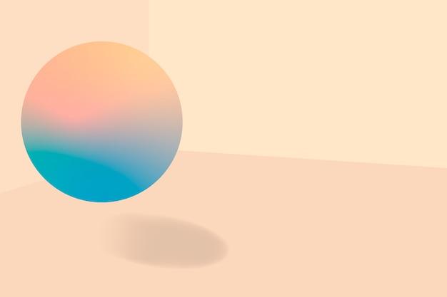 Персиковый пузырь с рисунком фона