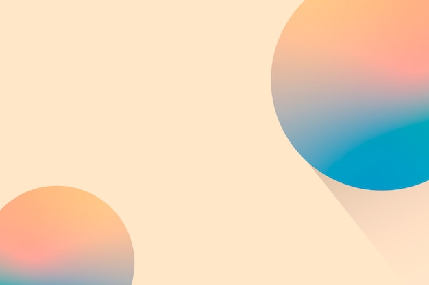 Peach bubble patterned background