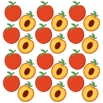 Peach fruits background design