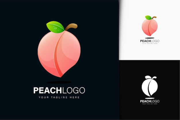 Peach logo design with gradient